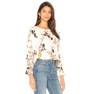 Sanctuary Bianca Ruffle Bell Sleeve Floral Top